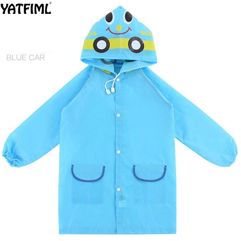 YATFIML 2018 KIDS raincoat Cartoon animal raincoat Waterproof jacket for chilldren 0-5T