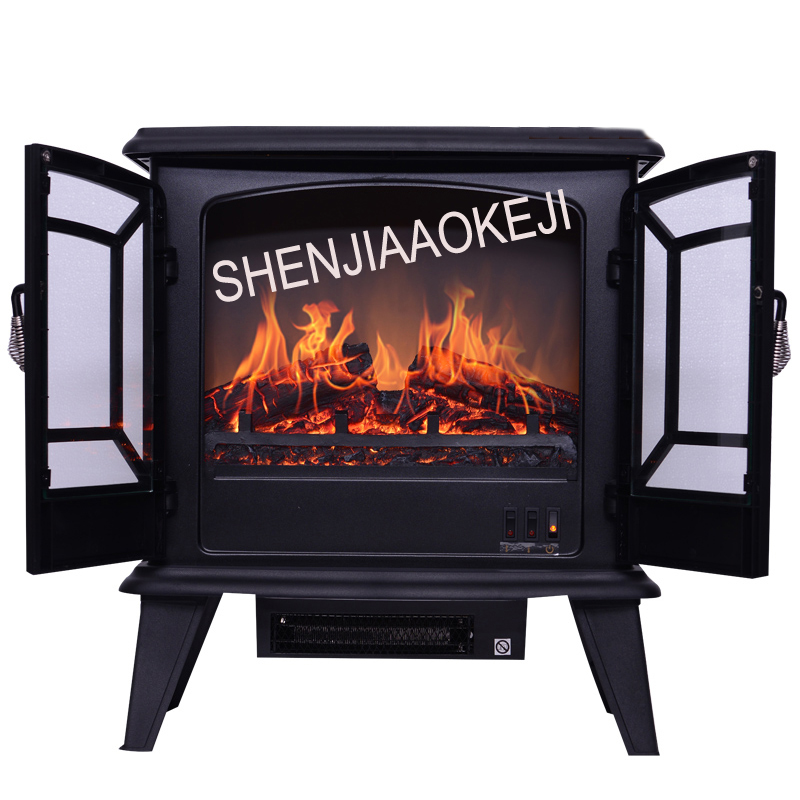 DNSD506 electric fireplace heater Energy-saving 3D simulation flame electric fireplace core Mobile small fireplace 40W 1PC hearth