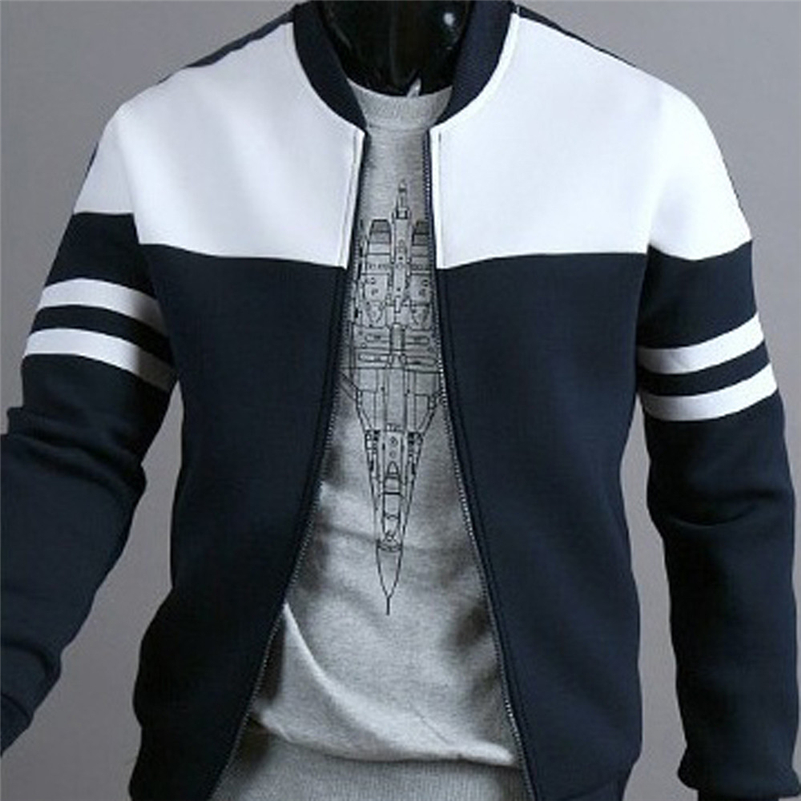 Bomber Jacket Casual Zipper Sportswear Patchwork Jacket Long Sleeve Coat Slim Bomber Jacket Men Overcoat Chaqueta Hombre Special Buy
