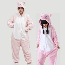 Kawaii милые животные Розовая Свинья пижамы Oneise мать дочь Семья пижамный комплект для взрослых женщин и детей TC023