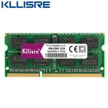Kllisre ddr3l ddr3 memória ram para notebook, laptop 4gb 8gb 1333 1600 1.35v 1.5v sodimm