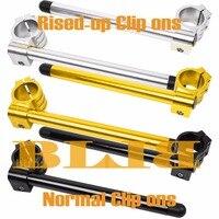 CNC Universal 41mm Für Kawasaki VN800 C1-C2 Vulcan Drifter ZR1000 A1 A2 ZN1300 Clip On Lenker Normal/Rised-up Griff Bars