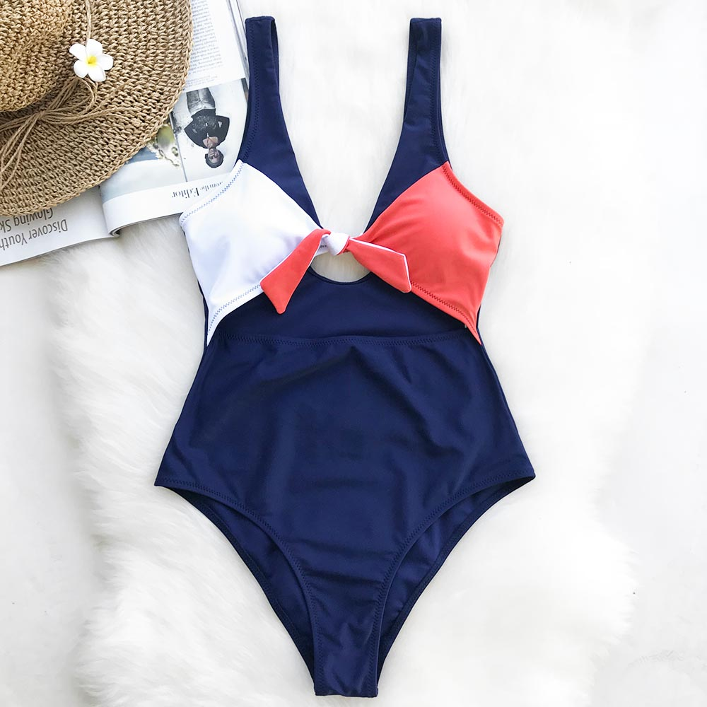 cupshe magic spell bowknot one piece swimsuit push up. Black Bedroom Furniture Sets. Home Design Ideas