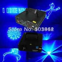 Venda quente dj luzes de laser 1000 mw 450nm azul animação fase partido de disco laser show sistema