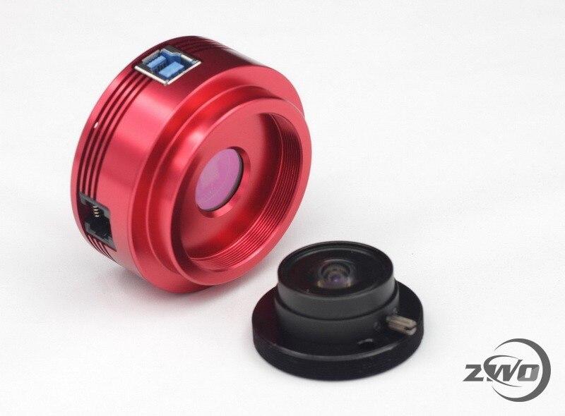 ZWO ASI120MC S Color Cámara ASI planetario Solar Lunar imágenes/Guía de alta velocidad USB3.0