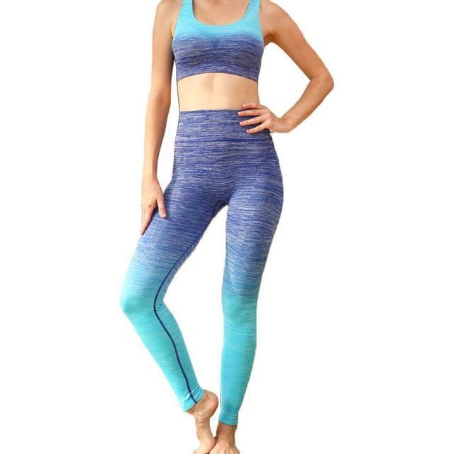 Women Legging USA Brand Clothing  Pants Workout Fitness Bodybuilding Gradient Grace Leggings For Female 0243