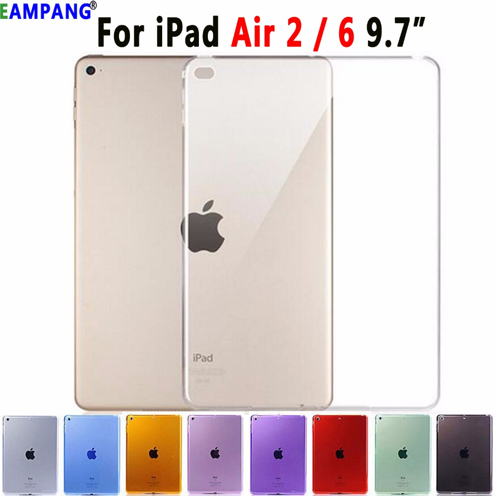 Ultra Thin Soft Transparent Silicon Cover Case For Apple IPad Air 2 Air2 A1566 A1567 9.7  Coque Capa Funda