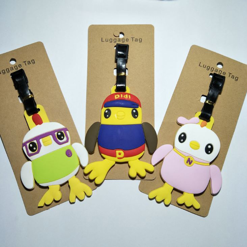 Adroit 1 Pc Cute Didi And Friends Didi Chicken Luggage Tag To Hang The Plane Boarding Pass Bag Tags Hanging Ornaments Bags Figure Toy More Discounts Surprises Back To Search Resultstoys & Hobbies