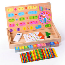 Free shipping Kids Magnetic multi-function digital arithmetic learning, wooden children's early childhood educational toys