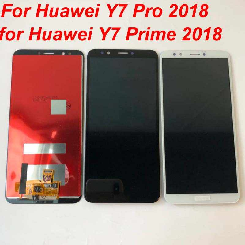 100% протестирован для huawei Y7 2018/Y7 Pro 2018/Y7 Prime 2018 ЖК-дисплей + кодирующий преобразователь сенсорного экрана в сборе Замена + рамка