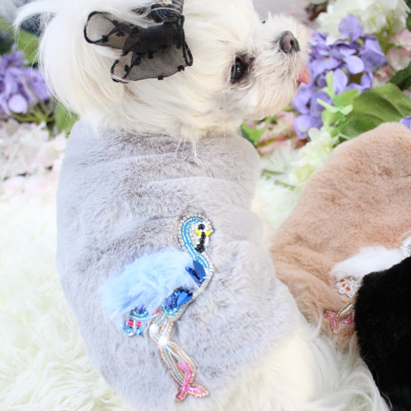 OnnPnnQ Dog Winter Clothes Faux Fur Rabbit Velvet Pet Coats Warm Jackets For Small Dogs Outerwear Vest Puppy Yorkshire Chihuahua