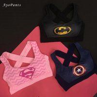 High Impact Women S Elastic Supergirl Sports Bra In Pink Shirts Superman Women Running Underwear Padded