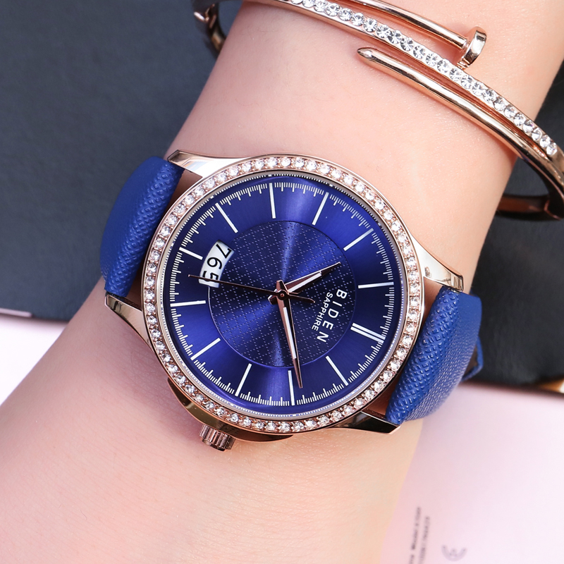 New Fashion Watch Women Luxury Top Brand Casual Quartz Watch for Ladies Leather Sport Royal blue Girl Dress Clock Relojes mujer brand new fashion watches women casual cat pattern wristwatch for girl quartz cartoon watch saat hours relojes gift ladies watch