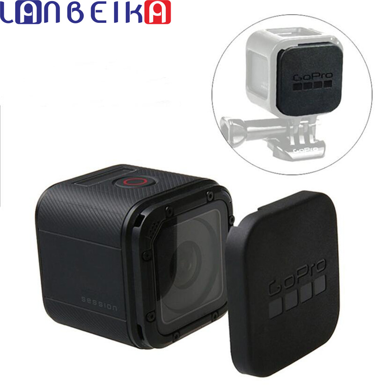 LANBEIKA For Gopro Hero 5 4 Session Lens Cap Cover Housing Case Protective with Gopro Logo For Go pro Hero 4/5 Session 5S 4S side open skeleton housing protective case cover mount for gopro hero 4 3 new z09 drop ship