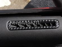 2015 2016 Реальные Углеродного Волокна Интерьера Двери Автомобиля Воздуха На Выходе Крышка Отделка Для Ford Mustang