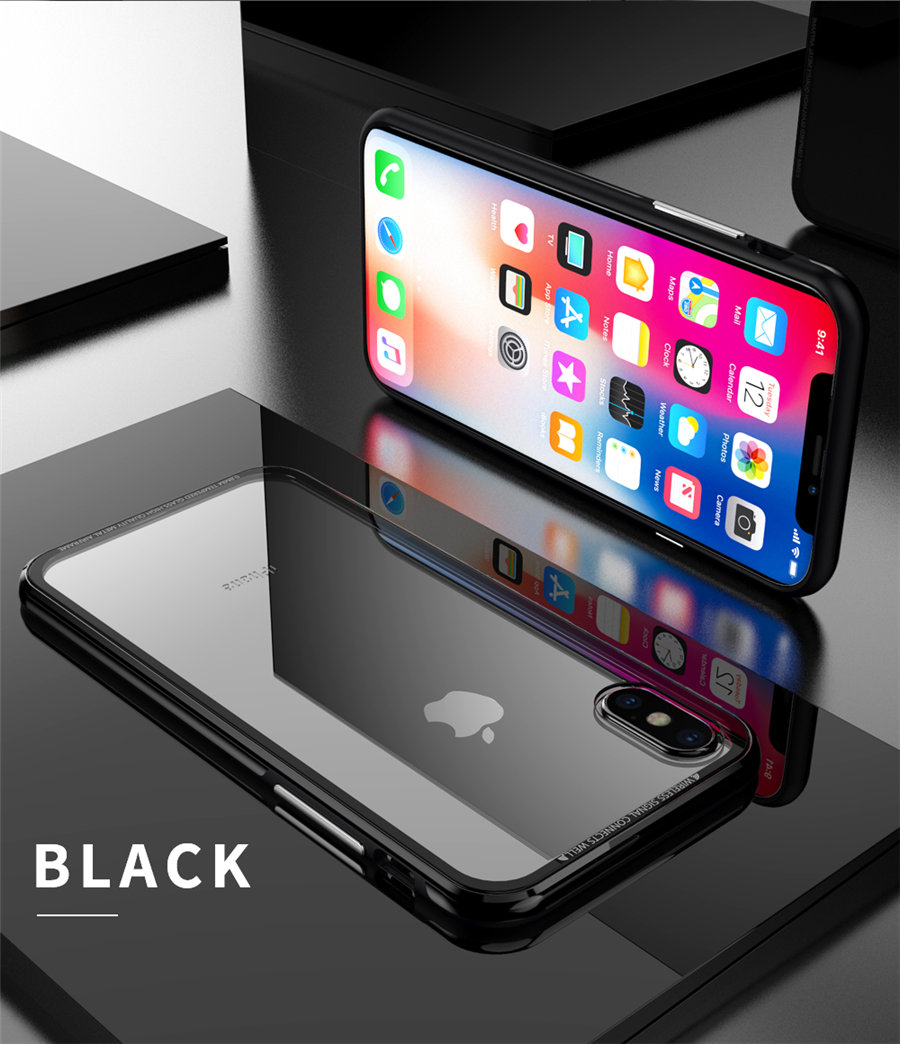 Luxury Aluminum Phone Cases For iPhone X Original R-just Hardness Tempered Glass Cover Case For iPhone X 10 Accessories (11)