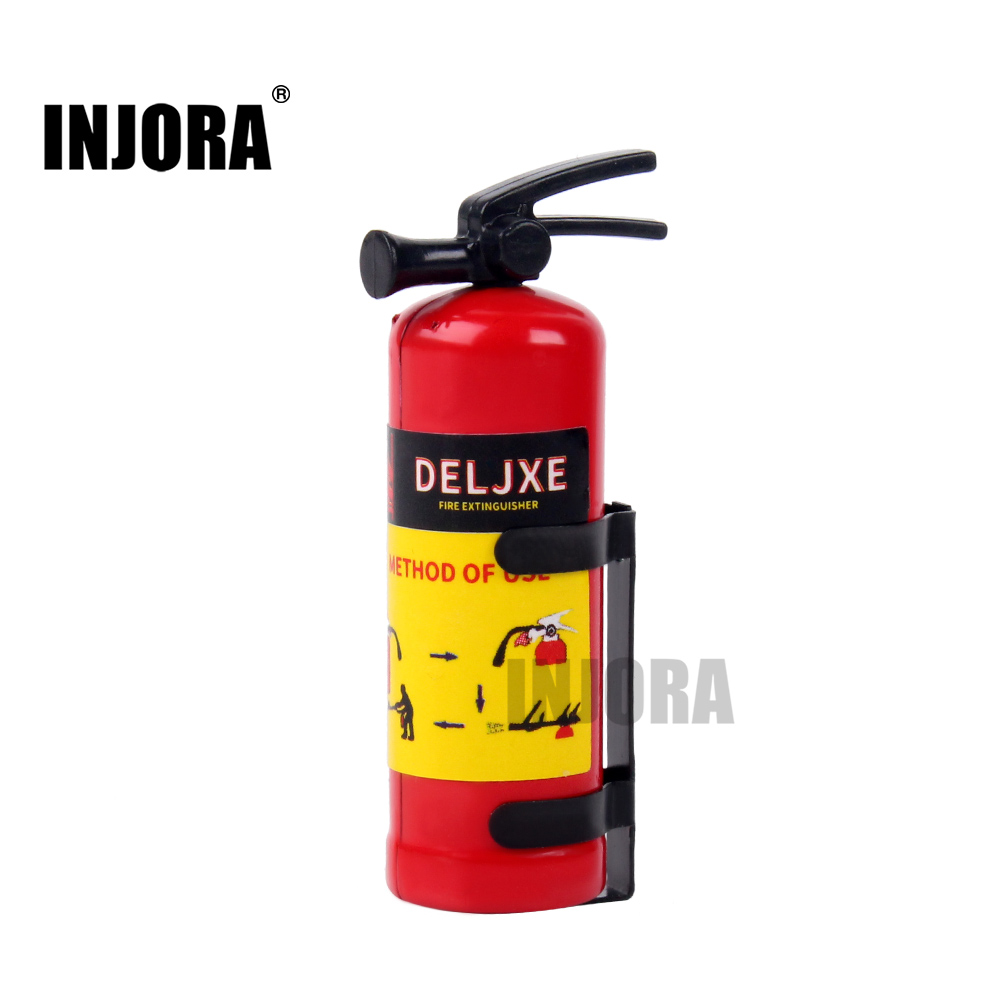 INJORA RC Car Accessories Plastic Fire Extinguisher With Sticker For RC Rock Crawler Axial SCX10 90046 TRAXXAS TRX4 D90 VS4-10