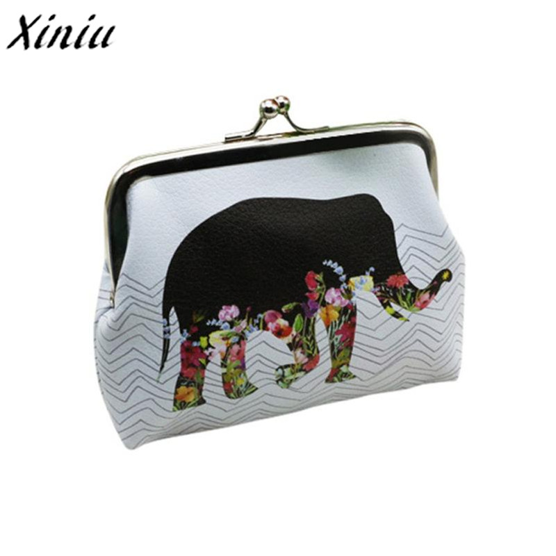 TOP Quality Womens Elephant Wallet Card Holder Coin Purse Clutch Handbag PU Leather Coin Purses womens wallets and purses men wallet double zippers business clutch handbag purse pu leather coin card holders purses lt88