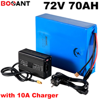 For SAMSUNG SANYO LG 18650 cell 72v 70ah electric bike battery 20S 20P 72v E-bike lithium battery for 9000w motor +10A Charger