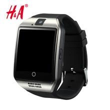 Bluetooth Reloj Inteligente Reloj Con Cámara Facebooks Q18 Twitter Smartwatch Apoyo TF Tarjeta Sim Para Apple ios Android Teléfono