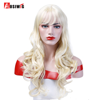 Black Brown Blonde 8 Colors Long Wavy Curly Wigs Heat Resistant Synthetic Hair Costume Halloween Party