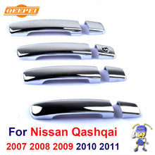 New ABS Chrome Door Handle Covers trim For Nissan Qashqai 2007 2008 2009 2010 2011 Free Drop Shipping(China)