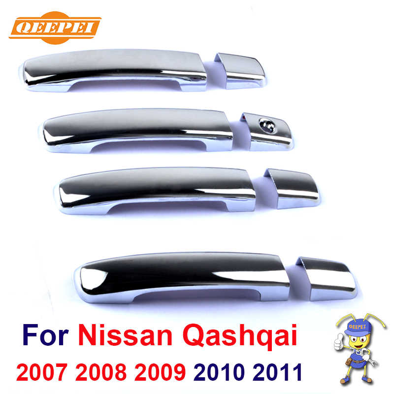 New ABS Chrome Door Handle Covers trim For Nissan Qashqai 2007 2008 2009 2010 2011 Free Drop Shipping
