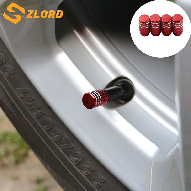 Zlord 4 Pcs Car Tire Wheel Rims Stem Air Valve For Hyundai Solaris Accent Sonata Elantra For Chevrolet Cruze Aveo Captiva Trax