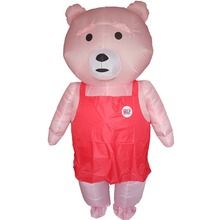 Bear Inflatable Teddy Costume for Adults Halloween Carnival Cosplay Party Fancy Dress Men Women Birthday Outfits