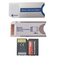 1 шт. Micro Sd Sdhc Tf для карты памяти MS Pro Duo Reader для Psp 1000 2000 3000 адаптер конвертер