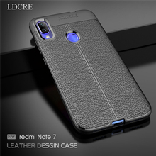 LDCRE For Xiaomi Redmi Note 7 Case Luxury Leather Silicone Xiami Cover Fundas