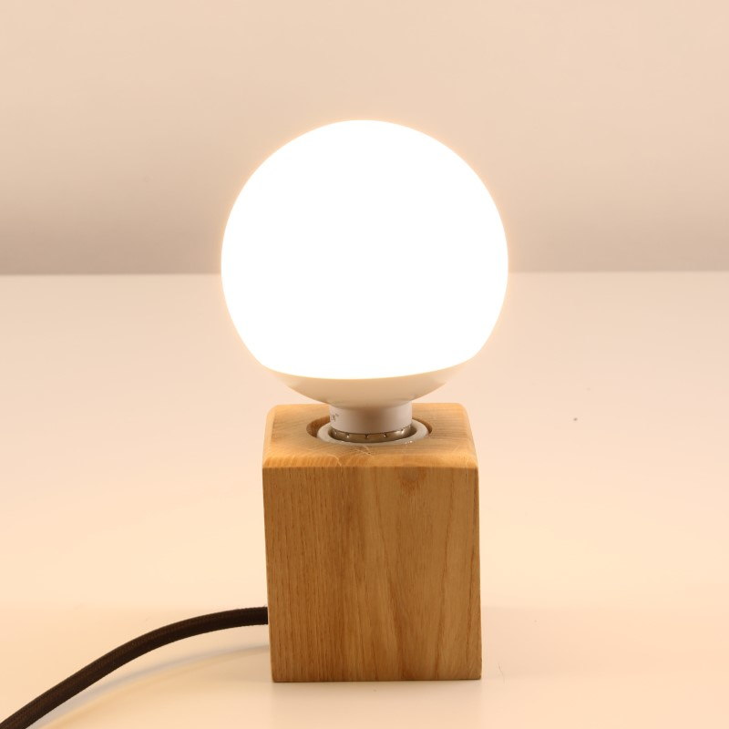Modern Table Lamp Wooden Base Lights Desk Night Light E27 Holder Mini Retro Bedside Lamp For Home Bedroom Decoration