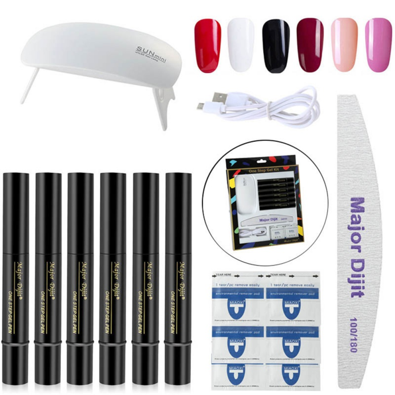 Gel Nail Soak Off Kit: Nail Set UV LED Lamp Dryer With 10pcs Nail Gel Polish Kit