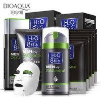 Bioaqua Для мужчин по уходу за кожей 4 шт. набор Живительное до угрей умывания крем удалить акне тонер без коробки