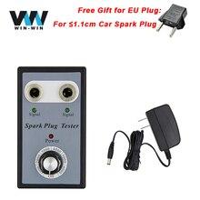 Hot Sale Dual Hole 1.1 CM Car Spark Plug Tester Automotriz With EU Plug Ignition Plug Analyzer Diagnostic Auto Tool Detector