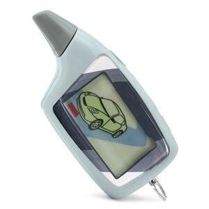 Image 2 - Neue LCD Fernbedienung Für Scher Khan Magicar 5 zwei wege auto alarmanlage Russische version sher khan magicar M5 remote Scher khan 5