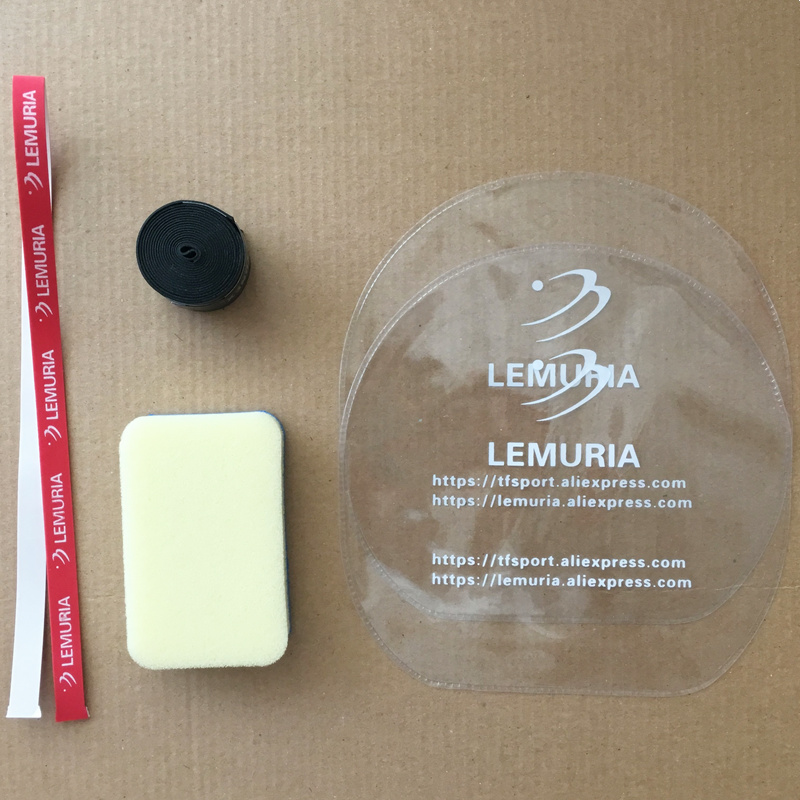 Lemuria Professional Table Tennis Rubber Protection Films Cleaner Sponge Racket Edge Protection Tape Table Tennis Accessories