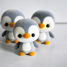 5.5CM Mini PVC Flocking Decoration Dolls Penguin 3 Colors Kawaii Doll Toy For Girls Little Exquisite Toy Christmas Gift Surprise(China)
