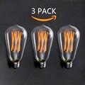 ST64 New Led Lampada E27/E26 6 W 8 W Edison Do Vintage Natal iluminação 110 220 v Branco Quente Conduziu a Iluminação de Poupança de Energia para casa