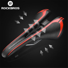 ROCKBROS Microfiber Leather Bicycle Saddle Cycling Rode Bike Hollow Vent MTB Folding Soft Seat Cushion Parts