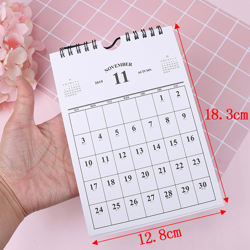 Calendars, Planners & Cards 2019 Paper Notebook Multifunction Office Gifts Plan Storage Box Decoration Kawaii Cartoon Desk Calendar Timetable Vertical