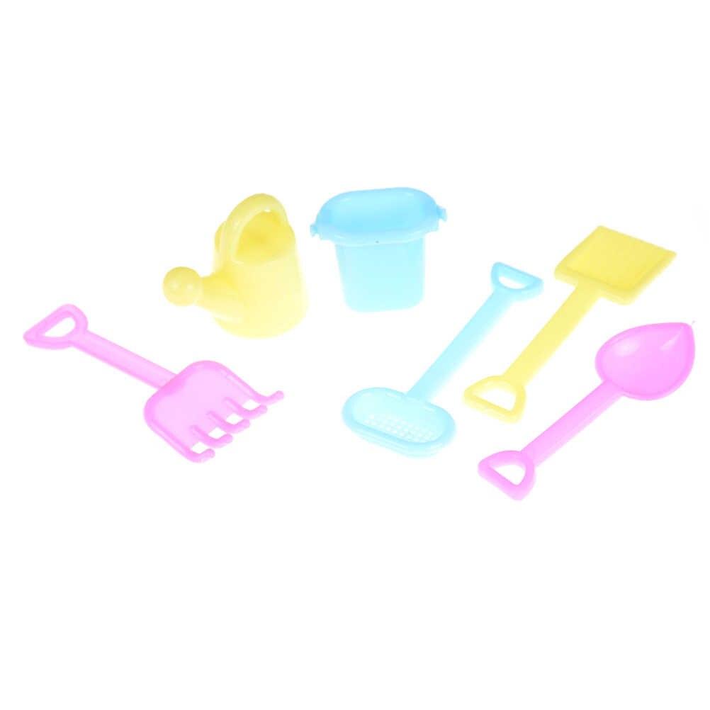 Новый Классический Пластиковый садовый инструмент Лейка для 1/6 Барби декор для кукольного дома Accs мебель игрушки дети подарок на Рождество на день рождения 6 шт