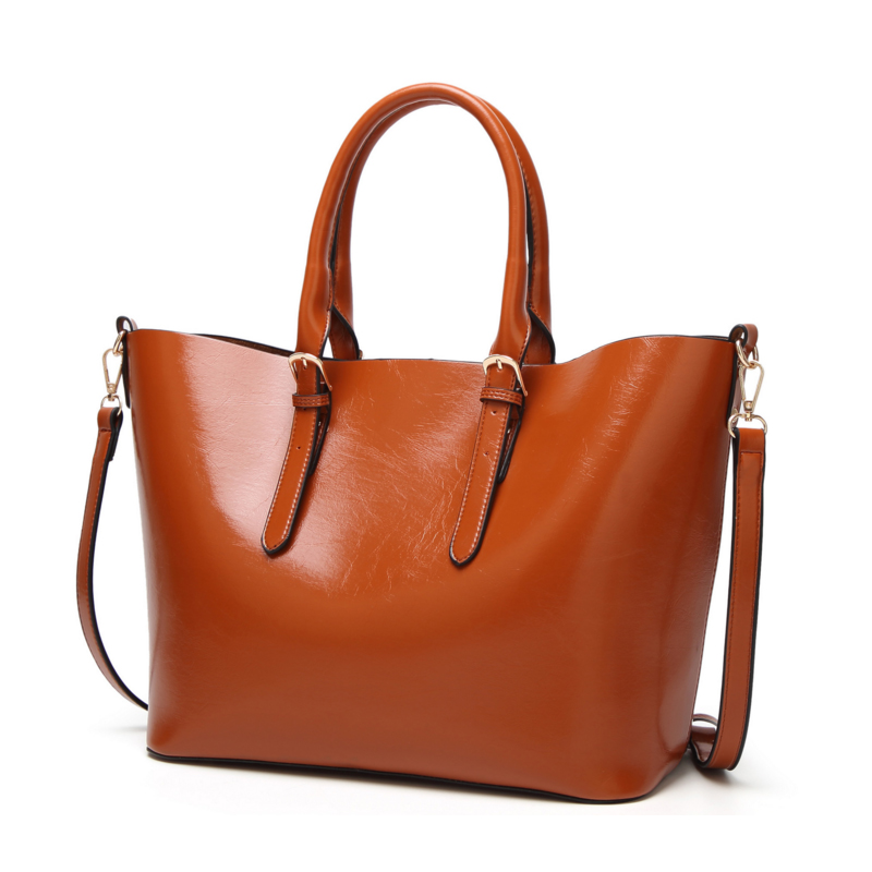 Handbags Women Shoulder Bags Female Famous Brand Big High Capacity Simple Casual Tote Hand Bag Sac Femme Oil Wax leather Retro 3 pcs set oil wax pu leather women bag high quality casual female handbags large capacity composite bag big women shoulder bags