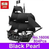2017 LEPIN 16006 804Pcs Pirates Of The Caribbean The Black Pearl Model Building Kit Blocks Bricks