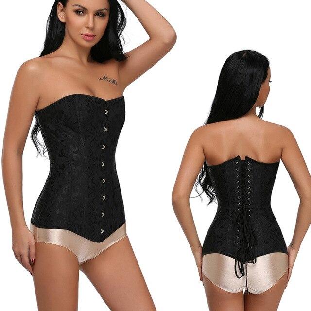 여자 steampunk 강철 overbust 긴 몸통 모래 시계 코르셋 bustier 허리 cincher corselet shapewear 플러스 크기 S 6XL