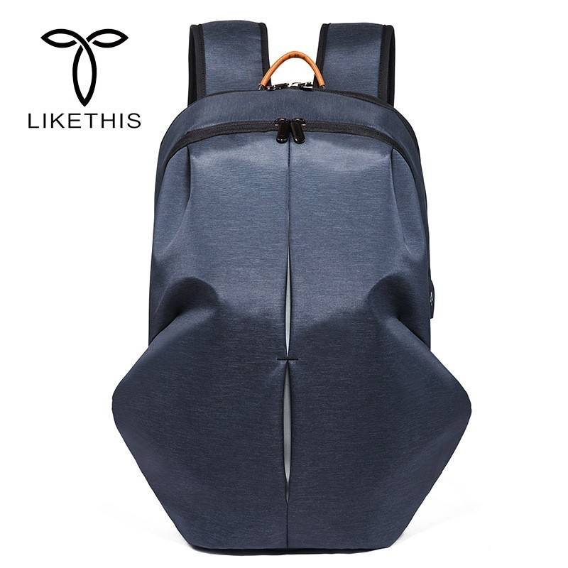 LIKETHIS New Backpacks Laptop Bags For Men Backpack Male USB Charging Fit 15 Inch Laptop Travel