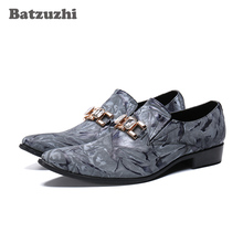 Batzuzhi Luxury Handmade Men Shoes Pointed Toe Genuine Leather Dress Shoes Men  Chaussures Hommes Formal Party Flats Shoes