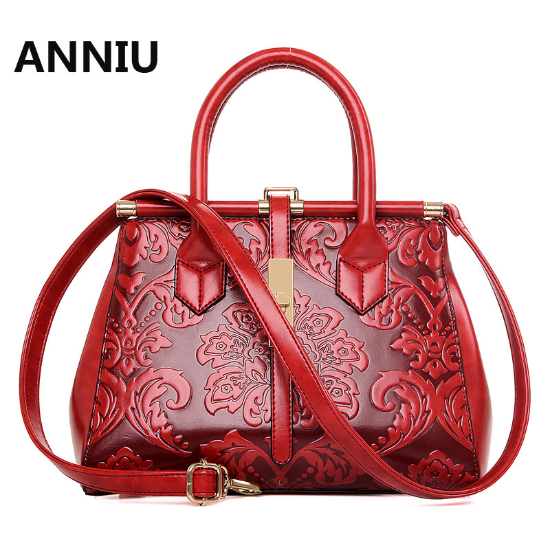 ANNIU New Fashion Women PU leather handbag National designer 3D Printing high quality chinese style shoulder bag bolsos mujer термосумка thermos police car novelty