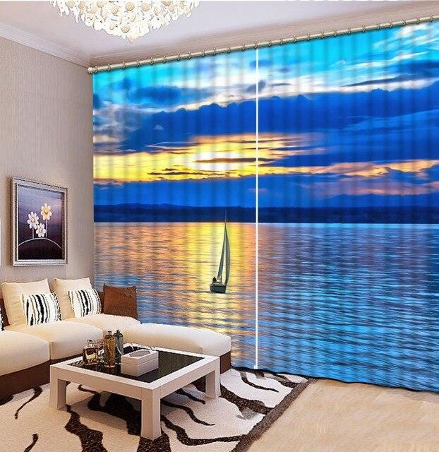 Schlafzimmer Vorhang Printing sea landschaft 3D Gardinen wohnzimmer ...
