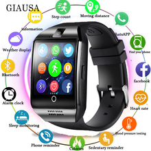 2019 Smart Watch with Camera Q18 Bluetooth Smartwatch Support SIM TF Card Slot Fitness Activity Tracker Sport Watch for Android цена
